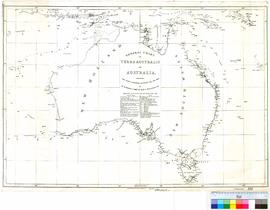 General chart of Terra Australis or Australia showing the parts explored by Matthew Flinders, Com...