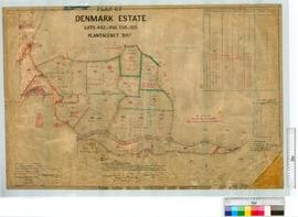 Portion of Denmark Estate. Lots 442-450 and 550-555 by G.J. Welsh. & markings by K.A. McWhae,...