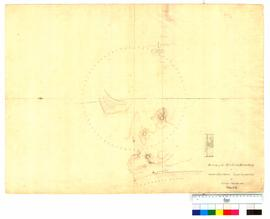Survey of the northern boundary of Thomas Peel's grant near Clarence by George Smythe, sheet 1 [Tally No. 005233].