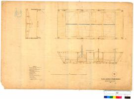 Plan of a barge for steam dredger by J.S. Roe [Tally No. 005348].