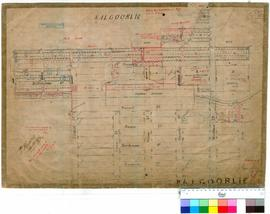 Kalgoorlie 77/6. Kalgoorlie - area within boundary of Shaw Street, Collins Street, Porter Street and Egan Street. T. Beasley, 18/10/1896 [scale: 4 chains to an inch].