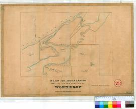 Wonnerup 25B. Plan of proposed boundaries for Wonnerup Townsite, showing Geo Bay, Vasse Est, Beed...