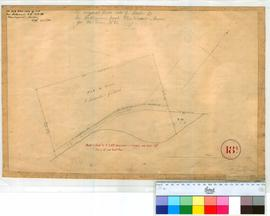"Perth 18/2. Plan of Subdivision ""b"" in Perth Townsite (J. Schoales & G. Nash) by Hillman, 1836-1838. Plantagenet-Swan. [scale: 1 chain to an inch, Tally No. 005779]."