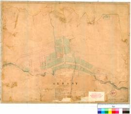 Albany 30D. Site of Albany surveyed and drawn by A.H. Hillman, June-July 1836 [scale: 4 chains to...