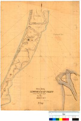Chain survey of the Leschenault Inlet by Thomas Watson, sheet 3 [Tally No. 005162].