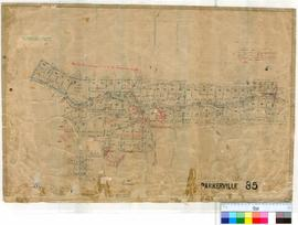 Parkerville 85. Plan of Parkerville Township showing various Lots North & South of Mahogany C...