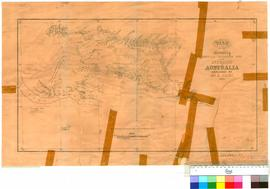 E. Giles - plan of country west of the telegraph line in the interior of Australia, 1872-73, Surv...