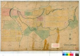 Guildford 17A. Site of Guildford. Drawn from the survey of Sutherland [scale: 4 chains to an inch...