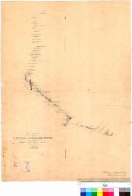 A. Hillman - route from the Canning to the Williams Rivers, December 1858.