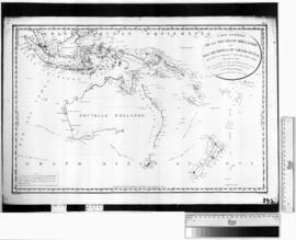 Carte Generale de la Nouvelle Hollande et Des Archipels du Grand Ocean [b/w photographic print on...
