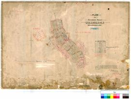 Greenbushes 49/4. Plan of residence areas, Greenbushes. H. A. Mitchell, Licensed Surveyor, 27/07/1899 [scale: 4 chains to an inch].