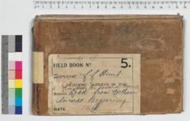 CC Hunt field book No.5