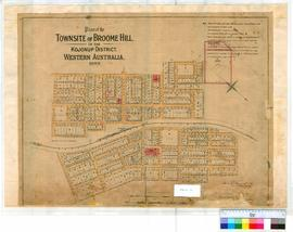 Broomehill 157. Plan of the Townsite of Broomehill in the Kojonup District, Western Australia, 18...