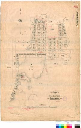 Coolgardie 76/18. Plan of Town extension, Coolgardie. G. W. Ellis [scale: 2 chains to 1 inch].