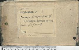 Field Book No. 2. W.H. Angove . Kojonup