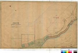 Perth 18/19 [2]. Plan of Perth Townsite Suburban Allotments along Quarry & Park Roads between Shenton Road & Mt Eliza [scale: 6 chains to an inch, Tally No. 005463, Not registered as an Original Plan].