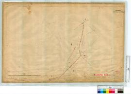 Roads by A.J. Lewis 1897 through lots 13-15 & 332, Fieldbook 9. Survey approved 1900 [scale: ...
