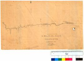 Eye sketch of the northern branch of the Helena River by W. Burges (shows Halfway House) [Tally No. 005240].