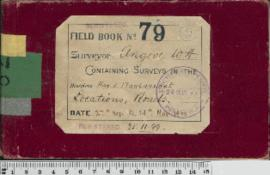 W.H. Angove Field Book No. 79. Containing surveys in the districts Hay and Plantagent. Locations, Roads