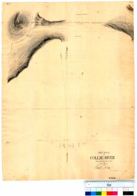 Chain survey of the Collie River by Thomas Watson, sheet 10 [Tally No. 005155].