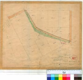 Perth 18V. Plan of part of Perth Townsite showing Lots 17-27, V110, 109-112 & sub. 61 (vicinity of Sutherland Street) by Charles Evans. [scale: 2 chains to an inch, Tally No. 005774].
