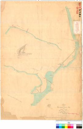 Folio XXVI. Survey between Government House Jetty and Claisebrook showing canal channels. C. Evans.