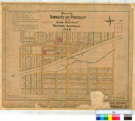 Pingelly 132. Plan of Townsite of Pingelly in Avon District showing Lots, Streets & Railway l...
