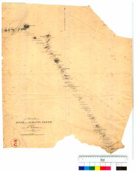 Part of the roads from Albany to Perth as marked by Mr Hillman [Tally No. 005223].