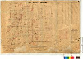 Survey of Locations 9826-9839 and 9846 by A.J. Bennett, Fieldbooks 31-32, vicinity of Kulin Townsite and Yilliminning-Kondinin railway [scale: 20 chains to an inch].