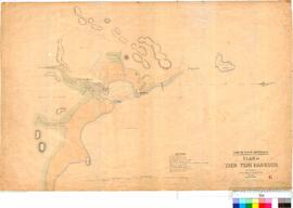 C.C. Hunt - plan of Tien Tsin Harbour (Port Walcott), May 1863.