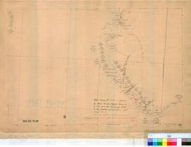 Map showing route followed by Messrs Durack, Kilfoyle, Horan, etc. in 1882, from Cambridge Gulf t...