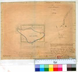 Perth 18/17. Boundaries of Allotments near Lake Thomson in Perth Townsite 5/5/1834, later addition of changed boundaries 19/11/1836. [scale: 8 chains to an inch, Tally No. 005462].