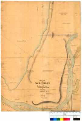 Chain survey of the Collie River & part of Leschenault Inlet by Thomas Watson, sheet 2 [Tally...