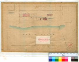 Perth 18/9. Plan of Perth Townsite showing Government Domain Reserve 5311, Commissariat, Court House, Lockup & Yard & Public Garden (near Barrack Street & Perth Water). [scale: 20 feet to an inch, Tally No. 005767].