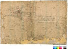 Melville 46. Original survey of Melville Townsite showing roads by G. W. Leeming Fieldbook 10 of ...