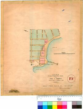 Fremantle 19N. Plan showing 3 proposed new streets in the Town of Fremantle. Drawn by C. Y. Dean ...