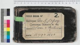 G.A. Lefroy Field Book No. 2