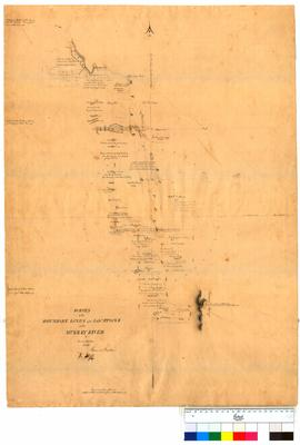 Survey of boundary lines of the locations on the Murray River by Thomas Watson [Tally No. 005042].