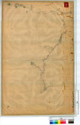 Traverse along the Kalgan River and Napier Creek by W.A. Saw, Fieldbook 14 [scale: 40 chains to a...