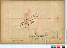 Hyden Sheet 1 [Tally No. 504392].