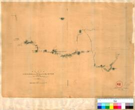 H.W. Bunbury - route from Pinjarra to the Williams River, 1836 (drafted by A. Hillman, June 1837).
