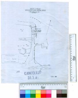 Sketch plan of improvements near Canning Bridge [scale: 1 chain to an inch].