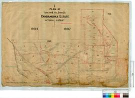 Victoria District Locations Lots 1 to 8, 11 & 24 to 35 Yandanooka Estate by Smith (Fieldbooks...