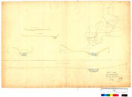 Sections for bridge sites on the Swan River by A.C. Gregory (Bridges at Guildford, Woodbridge & Oakover) [Tally No. 005345].