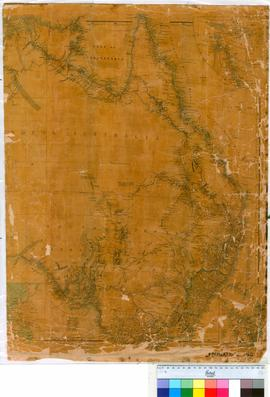 Fragment of John Arrowsmith's map of Australia London 1850 (Eastern and Central Australia).