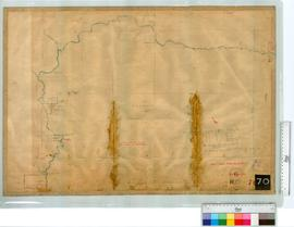 Locations - vicinity of Frankland & Gordon Rivers by C. Evans, Fieldbook 5 [scale: 20 chains ...