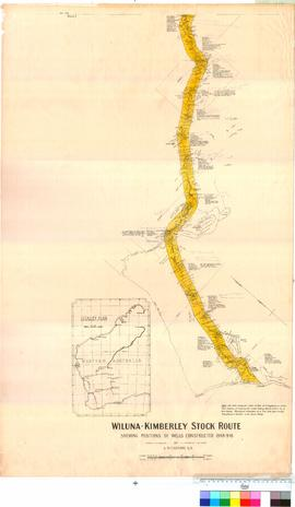 Wiluna - Kimberley Stock Route - showing positions of wells constructed 1908, 1909, 1910 - By A.W. Canning [Sheet 1] Wiluna No. 11 Well.