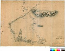 J.S. Roe - explorations in the South West, October-December 1835 [Southern sheet - see also Exploration Plans 68 & 69].