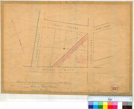 Perth 18/14. Part of Perth Townsite. Plan showing survey of proposed arrangement for opening a Public Highway between Moore & Walter Streets. [scale: 1 chain to an inch, Tally No. 005459].