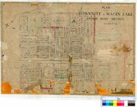 Wagin 147/1. Plan of Townsite of Wagin showing Lots between Umbra, Verdant, Ware & Trench Str...